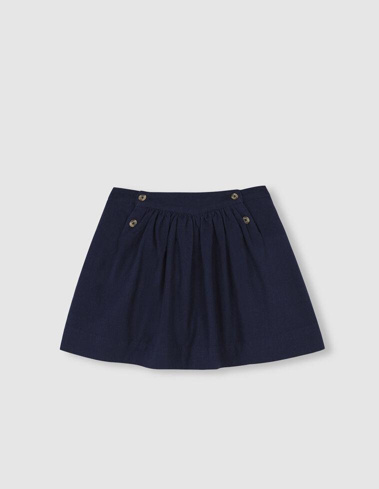 Falda corte con botones en cintura.
