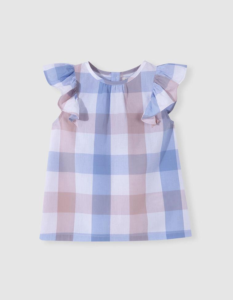 Camisa quadrados com folhos