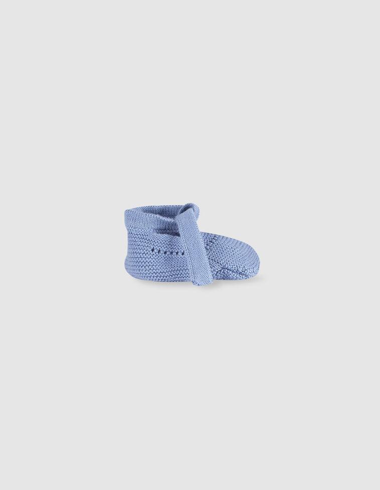 Carapins tricô laço azul