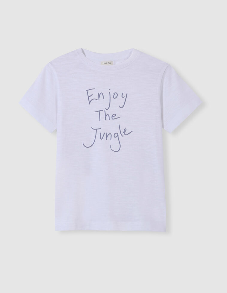 T-shirt jungle azul