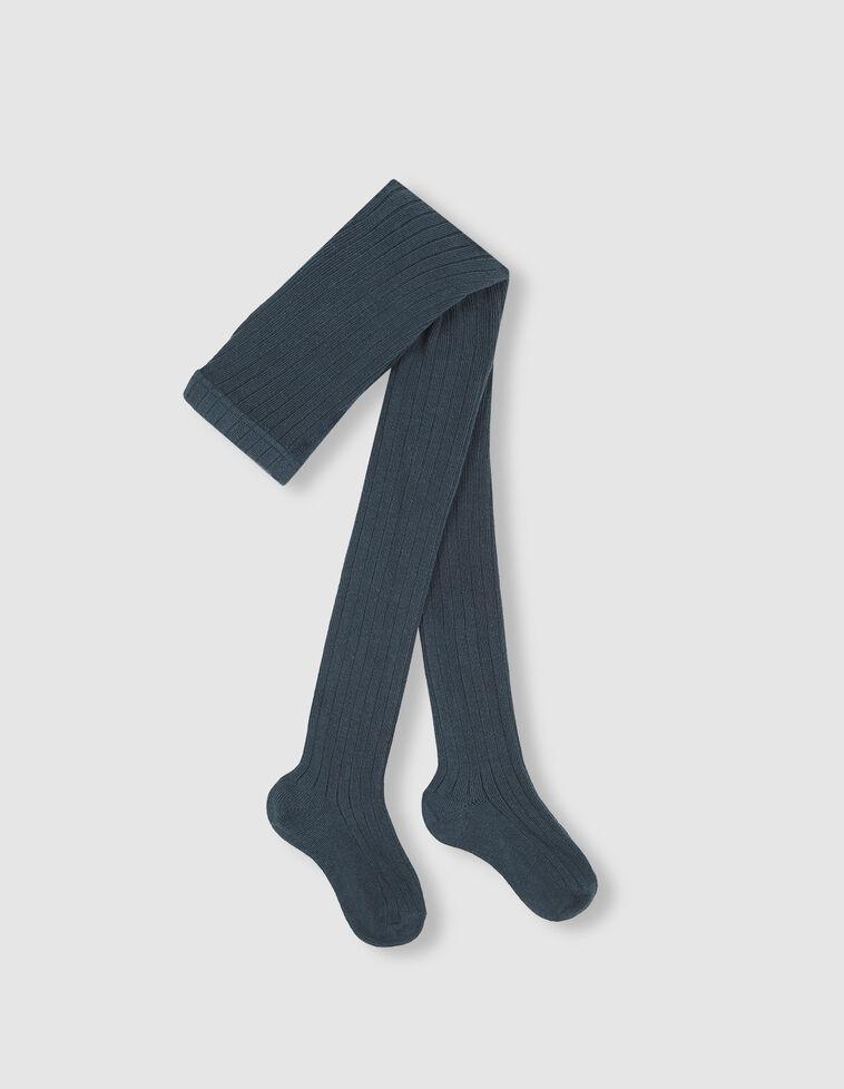Meia-calça azul-petróleo