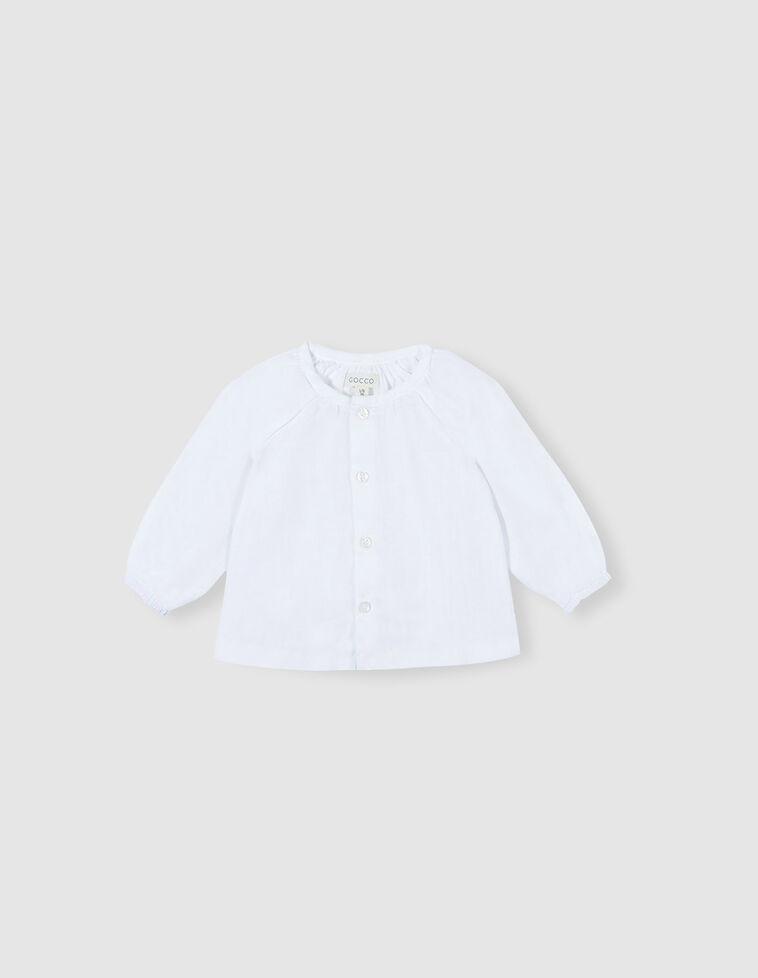 Camisa de gasa blanca