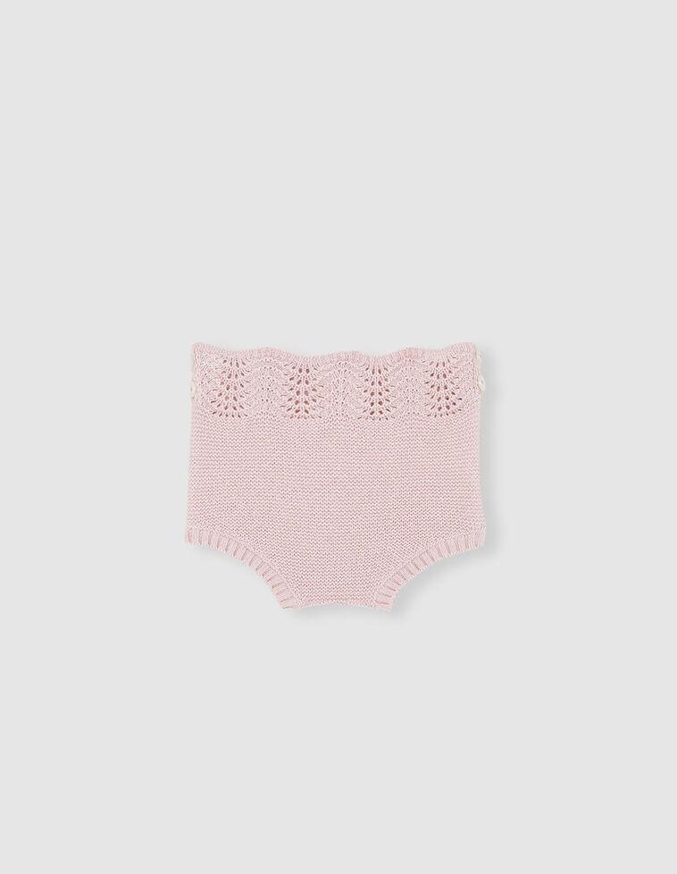 Tapa-fraldas cor-de-rosa de malha