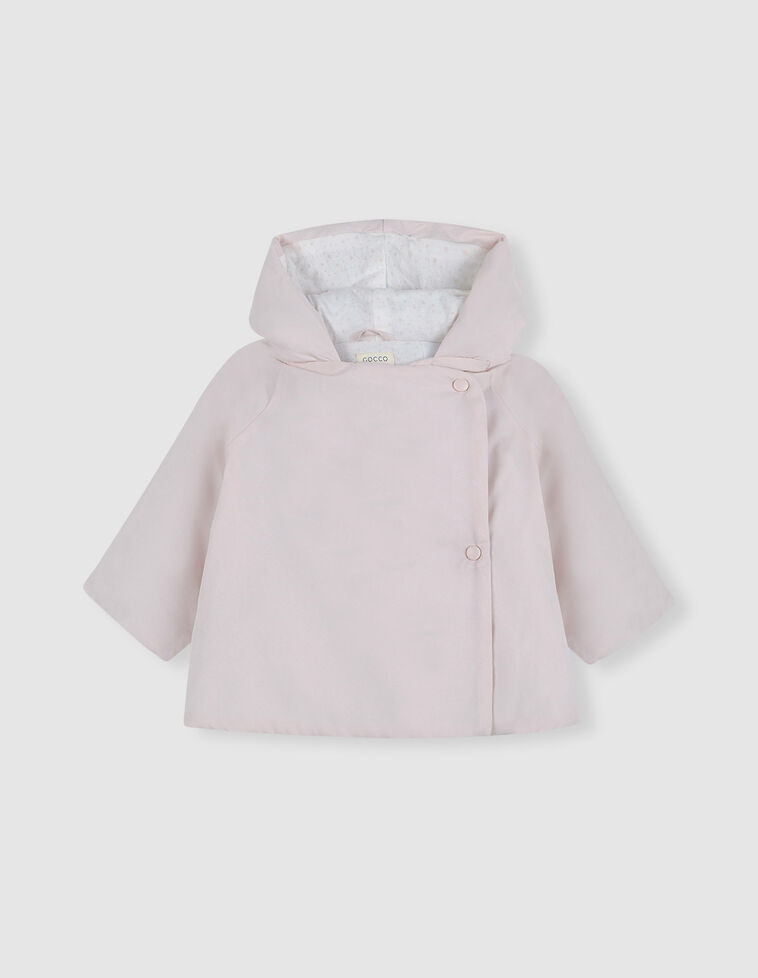 Casaco Cruzado cor-de-rosa