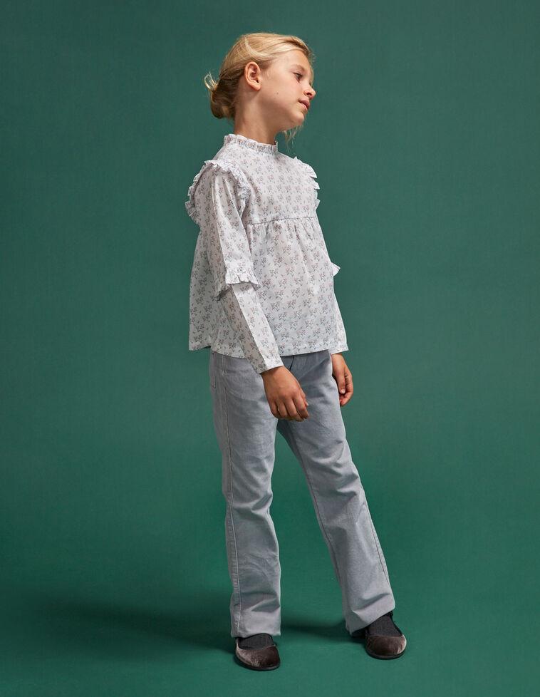 Pantalon culotte gris