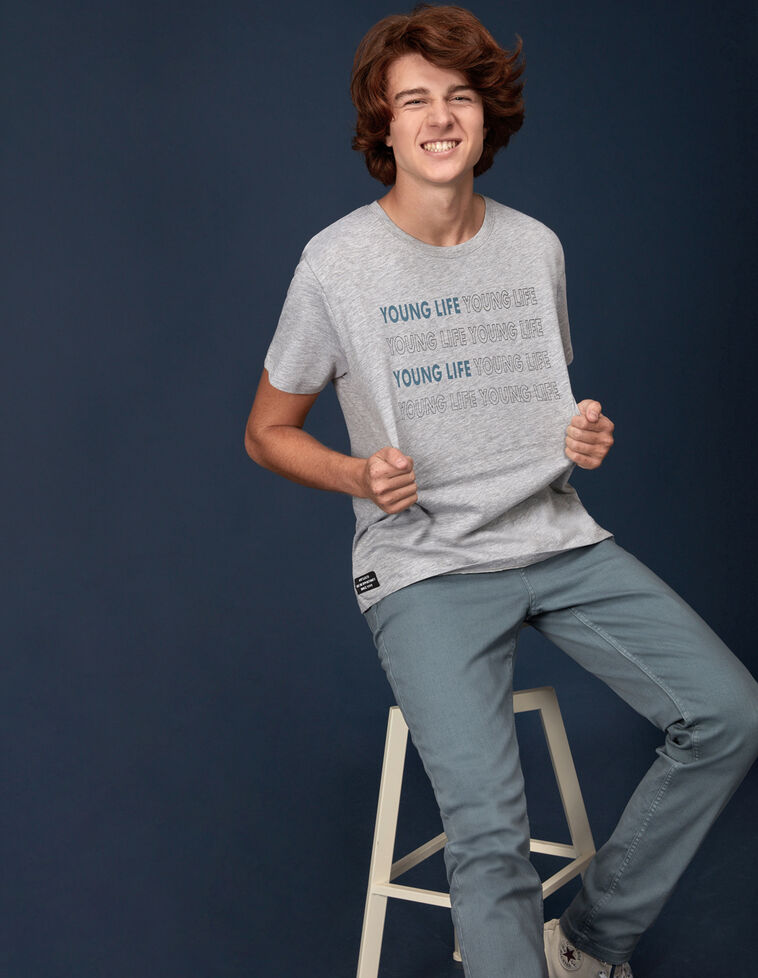 Camiseta texto gris