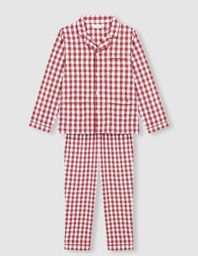 Pijama de xadrez vermelho