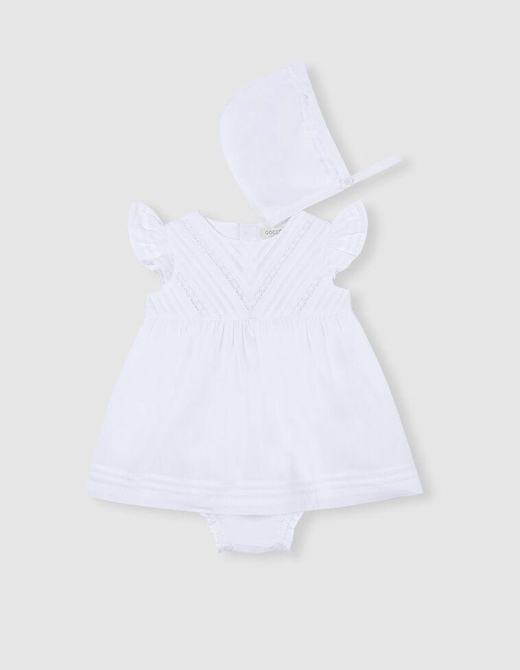 Conjunto vestido pregas branco