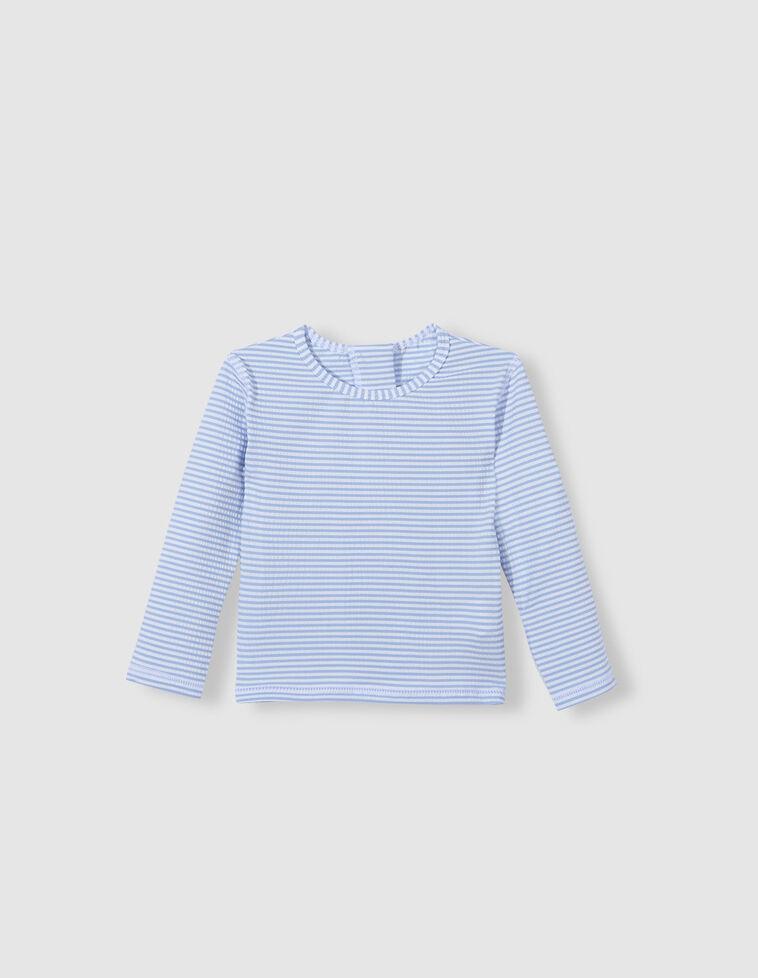 Camisola de banho riscas azul