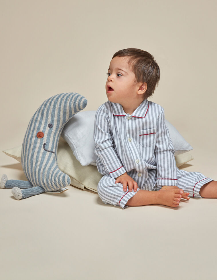 Pijama rayas con vivos