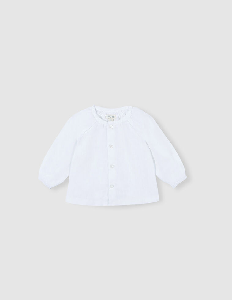 Camisa em chiffon branca