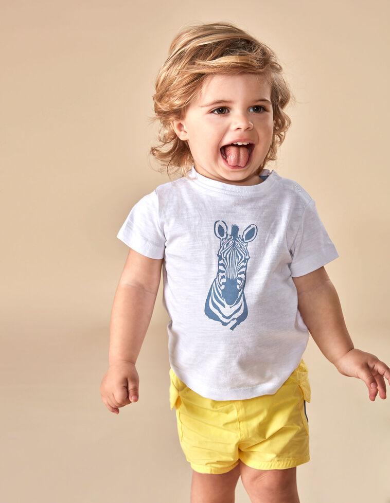 T-shirt zebra azul