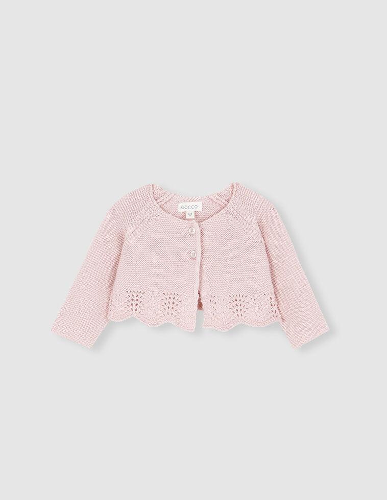 Casaco cor-de-rosa de malha
