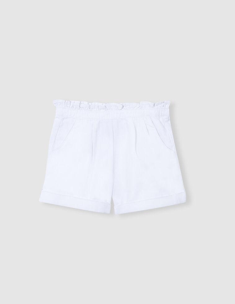 Bermuda pinzas blanca