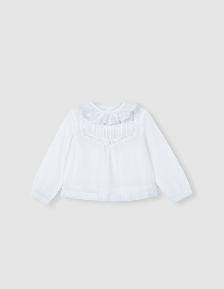 Camisa Plumeti Branca