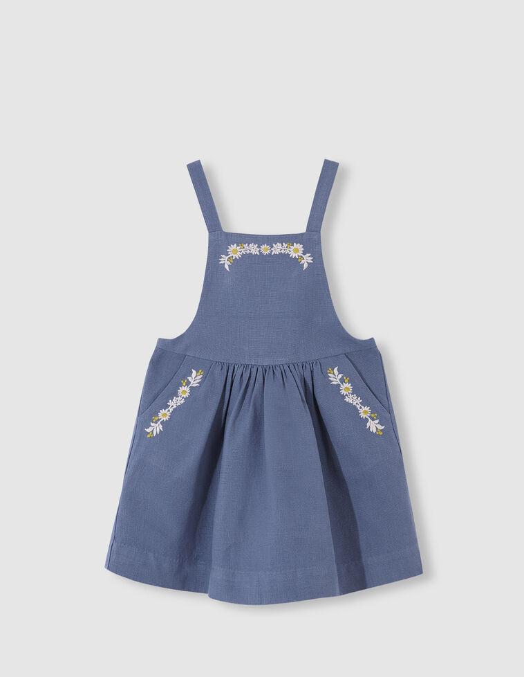 Pichi bordado flores azul