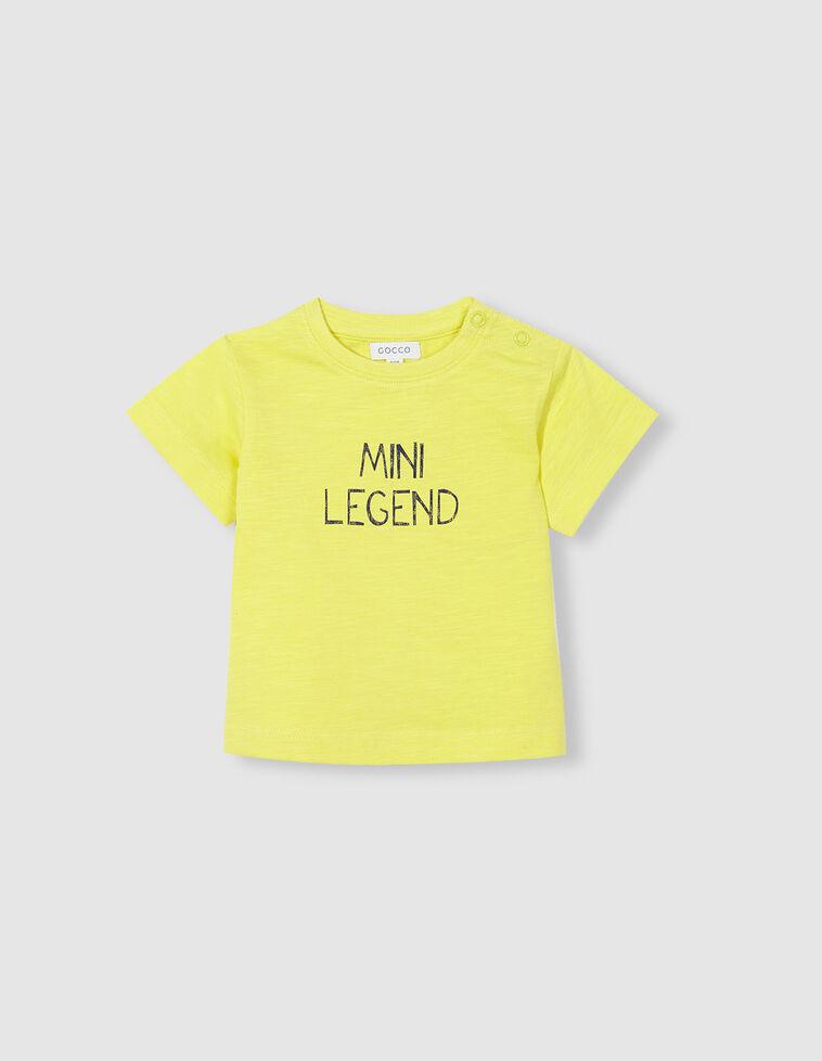 T-shirt mini legend amarela