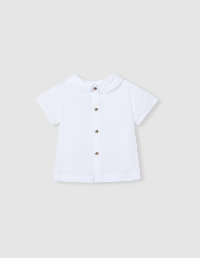 Camisa dobby branca