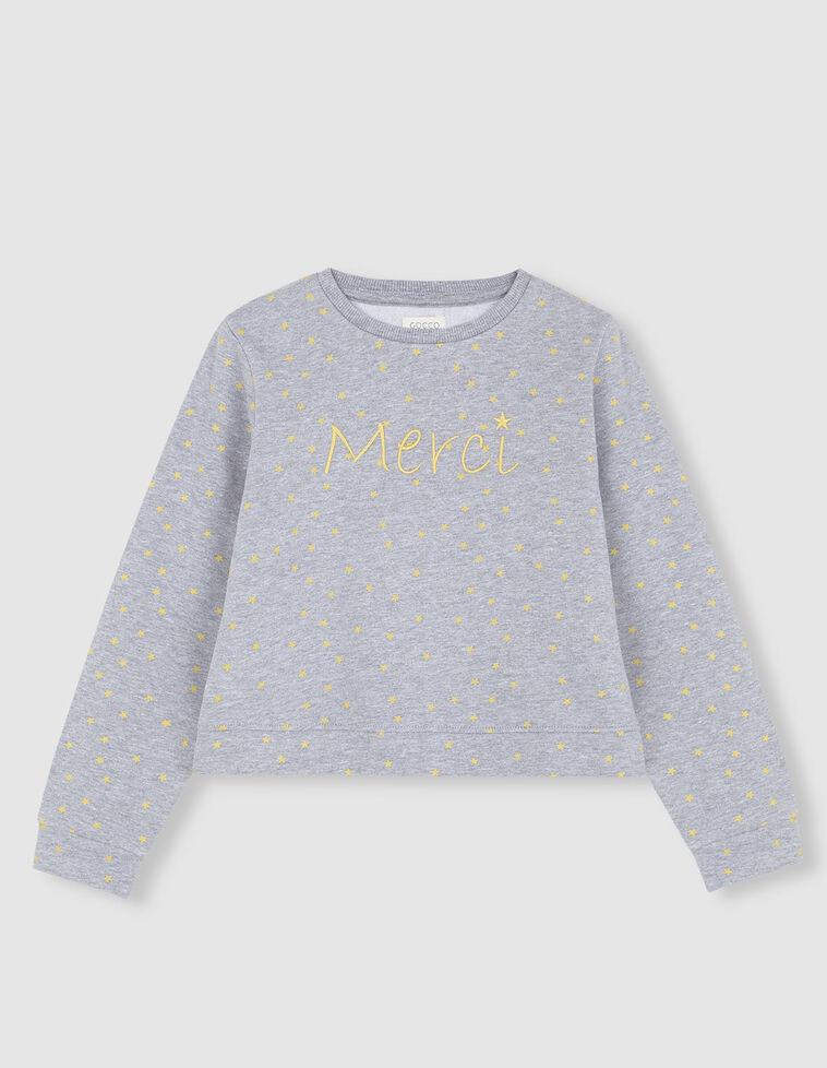 Suéter cinzenta manga comprida