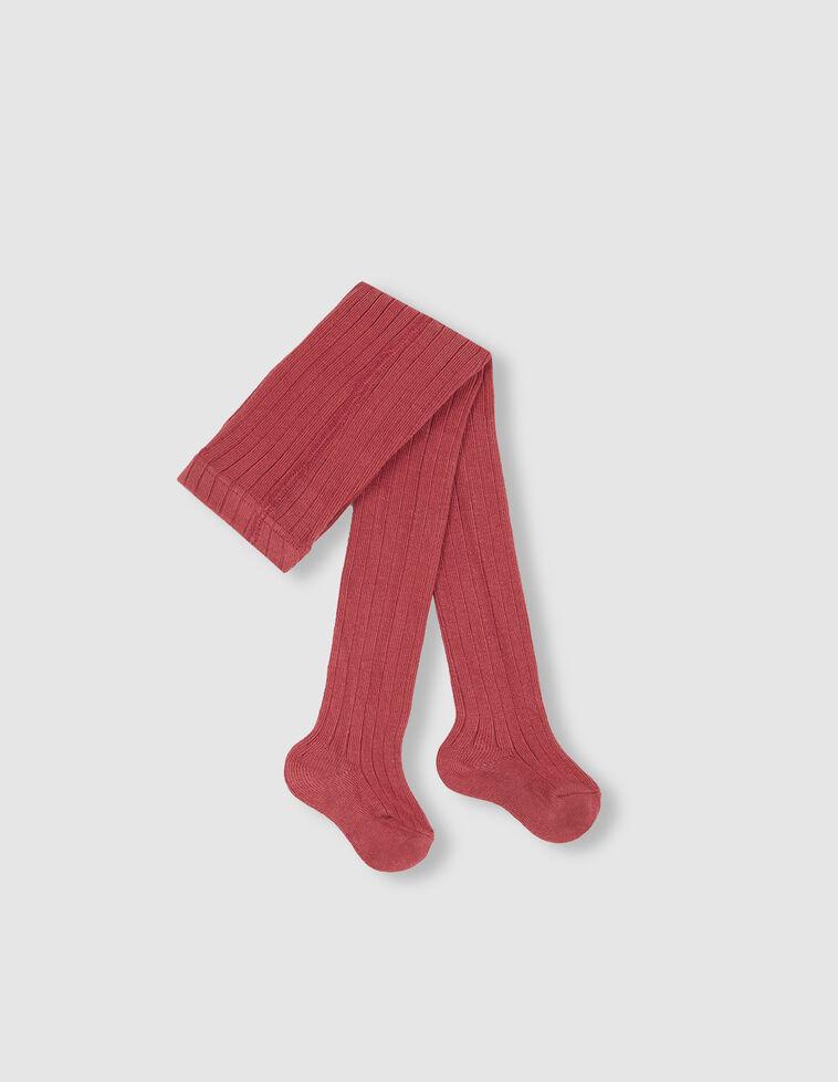 Meia-calça de cor vermelho-morango