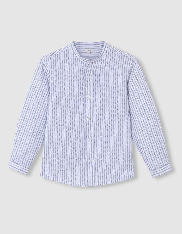 Camisa dobby rayas azul