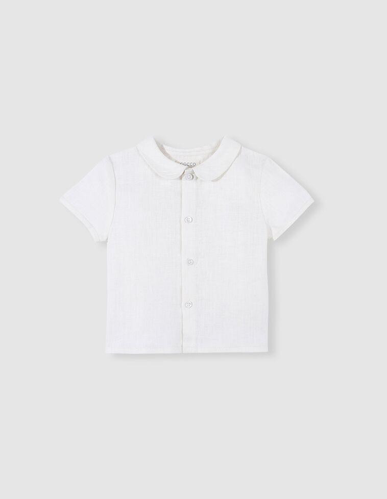 Camisa cuello peter pan blanco
