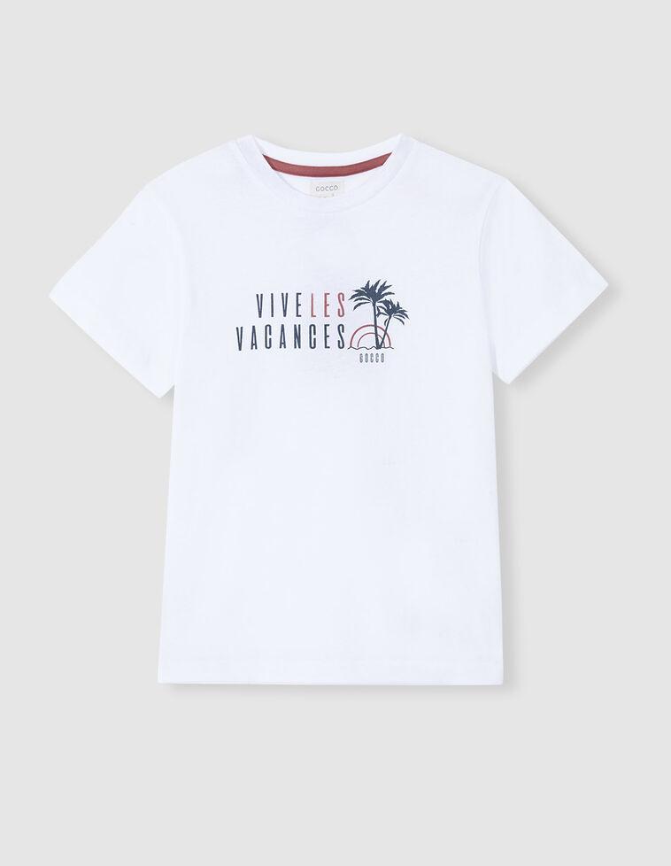 Camiseta vacances blanca