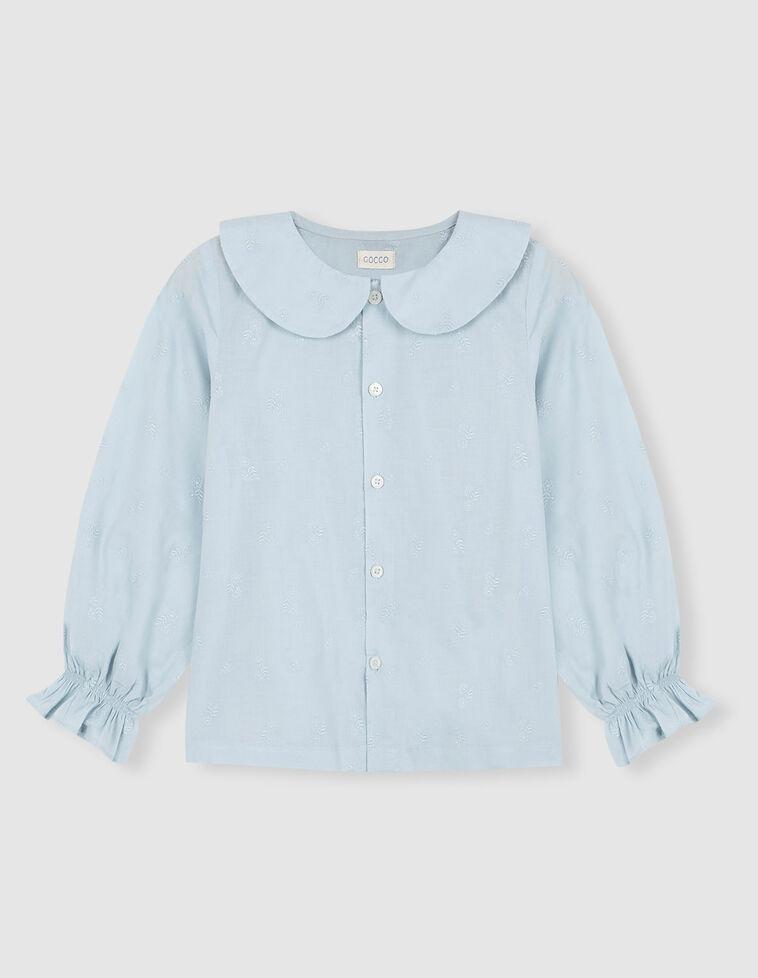 Camisa perfurada azul