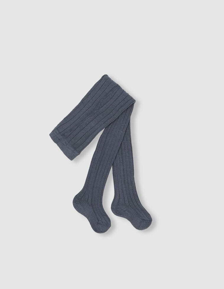 Meia-calça Canelada de cor azul