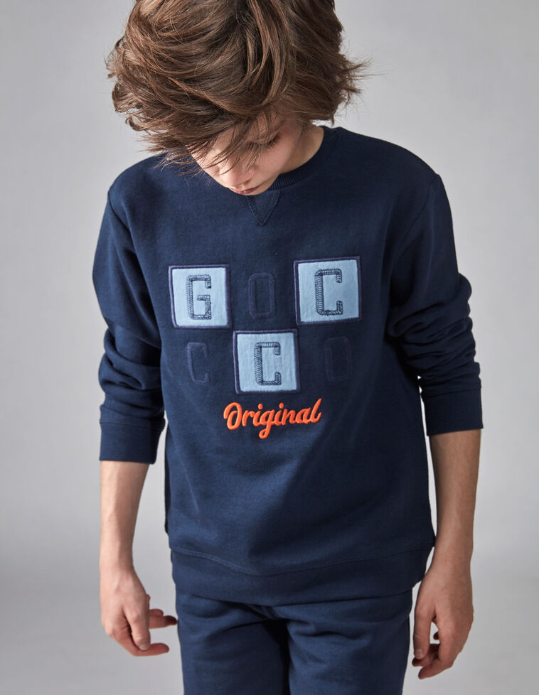 Sweatshirt pelúcia azul marinho