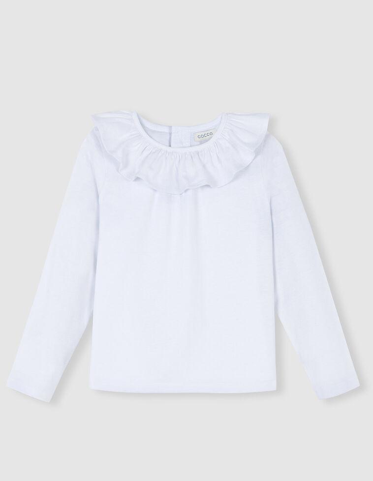 Camiseta cuello volante blanca