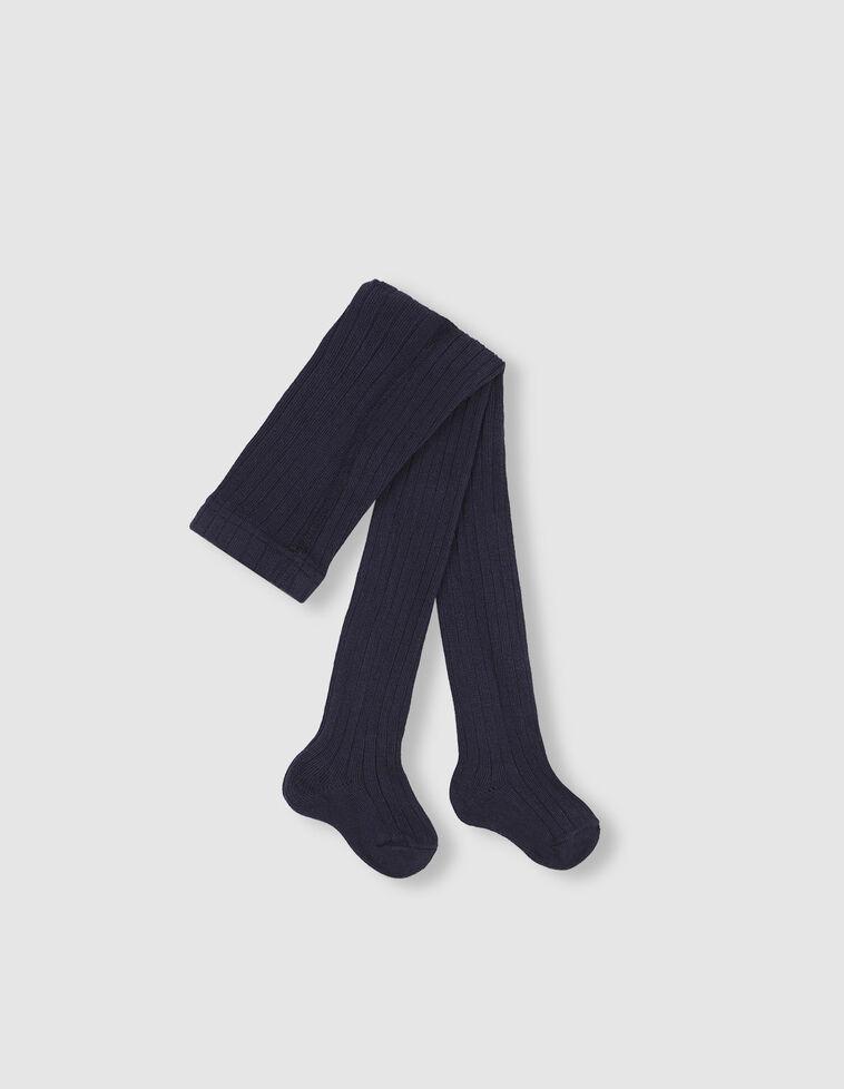 Meia-calça Canelada azul