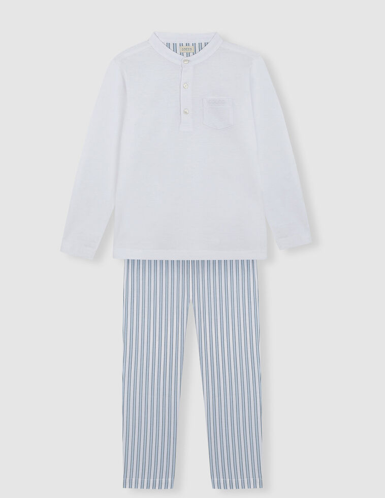 Pijama com abertura abotoada
