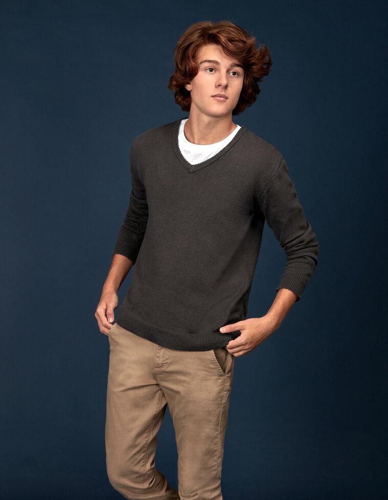 Jersey básico escote pico