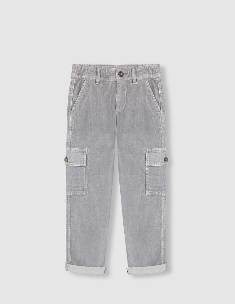 Pantalón cargo pana gris