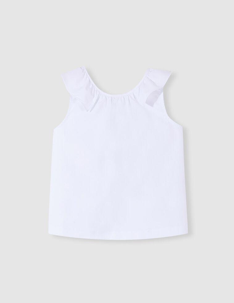Camisa branca com folhos