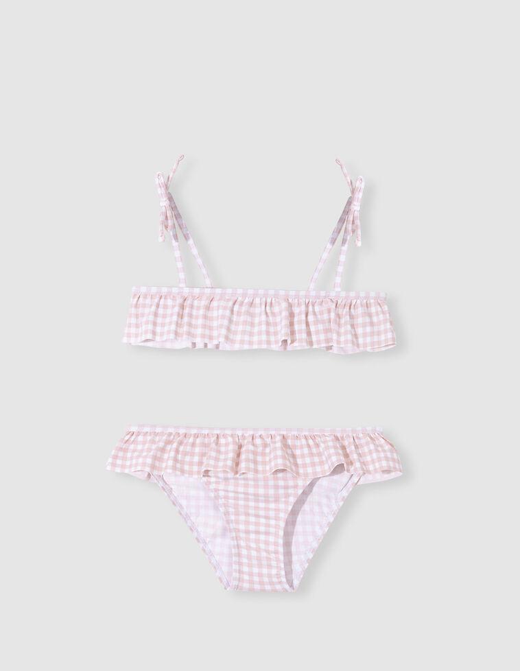 Bikini licra cuadro vichy rosa