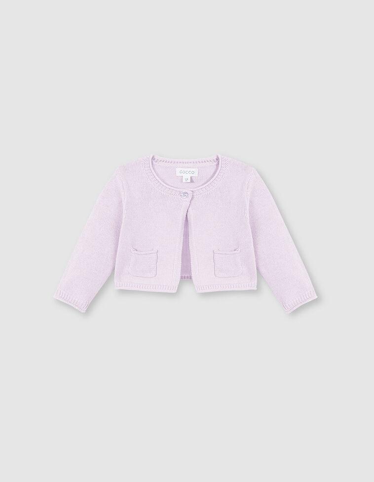 Chaqueta básica bolsillos rosa