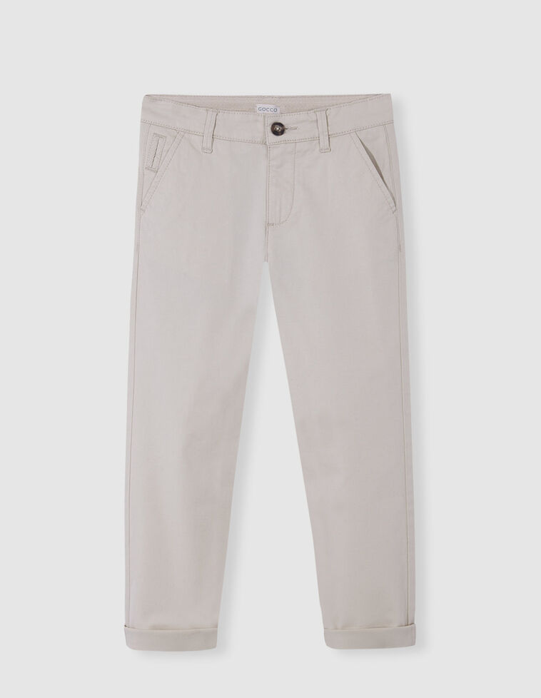 Pantalón chino arena