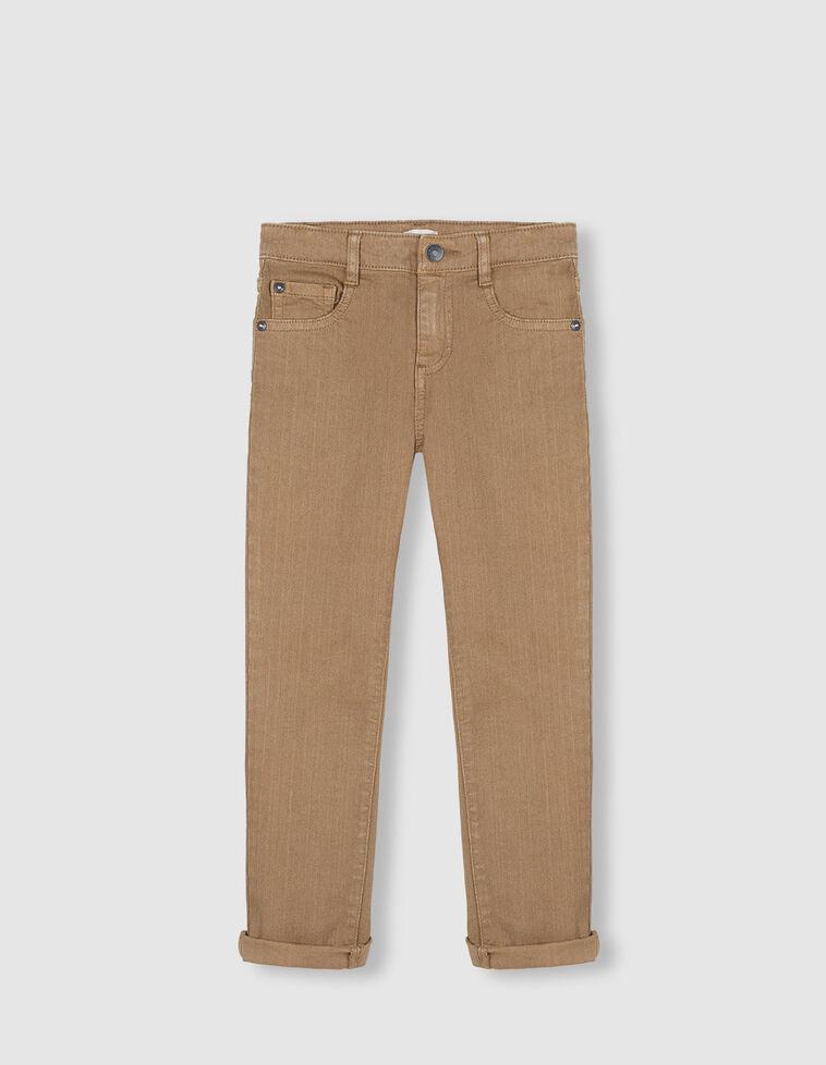 Pantalón cinco bolsillos camel