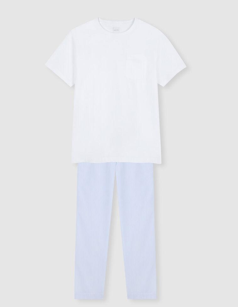 Pijama largo milrayas