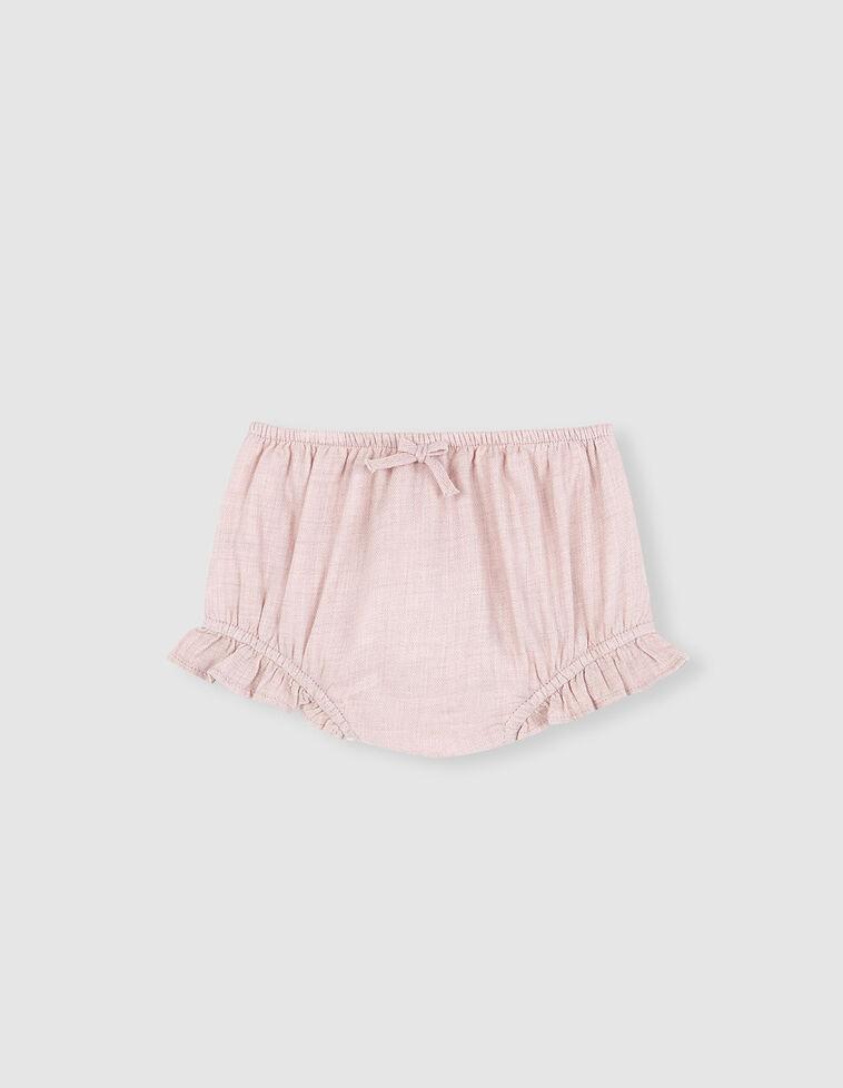 Tapa-fraldas cor-de-rosa com laço