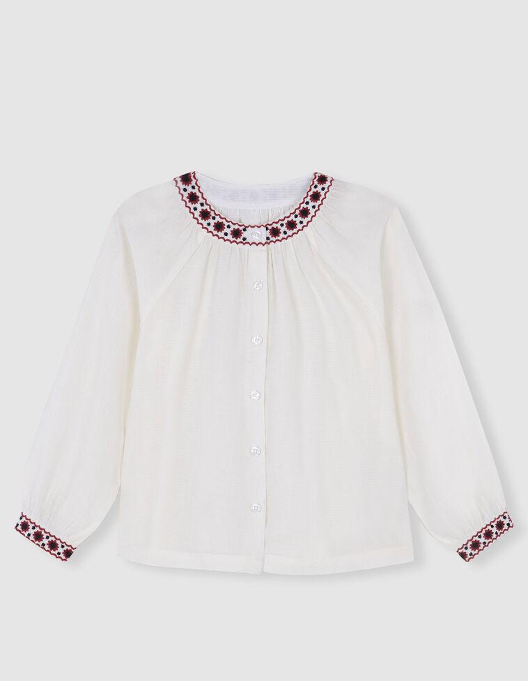 Blusa cruda bordados