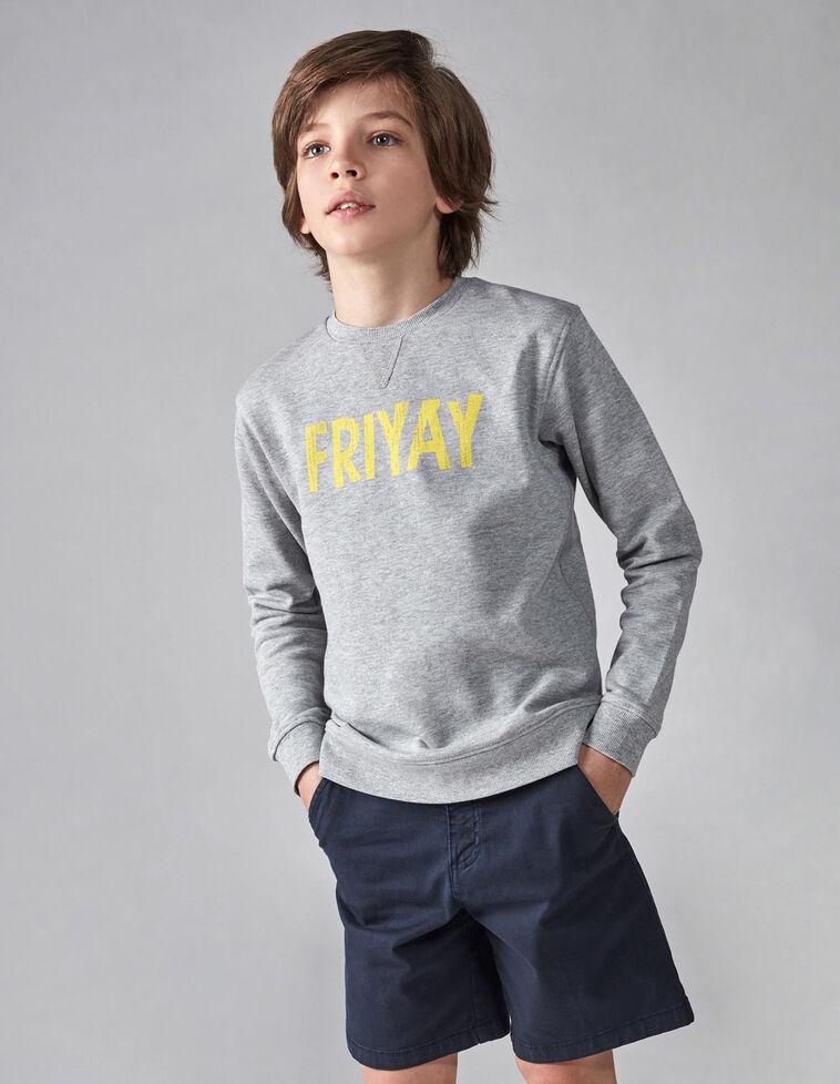 Sweatshirt friyay cinzenta