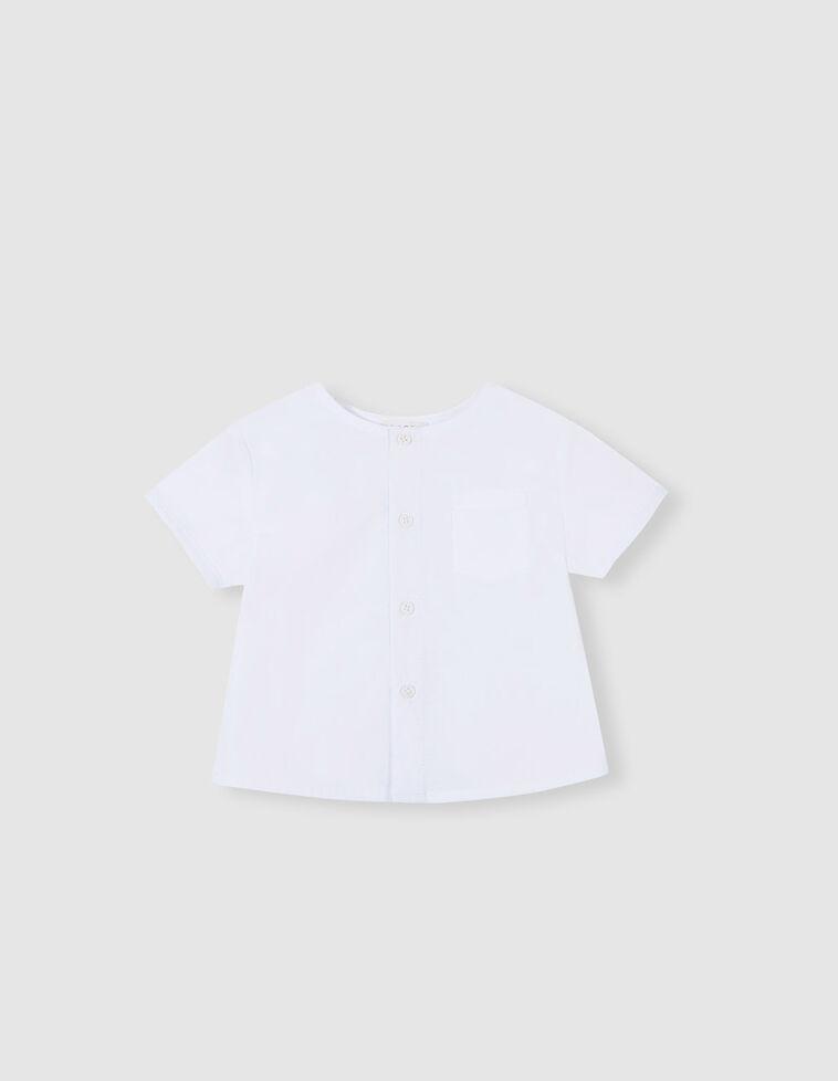 Camiseta manga corta bolsillo blanca