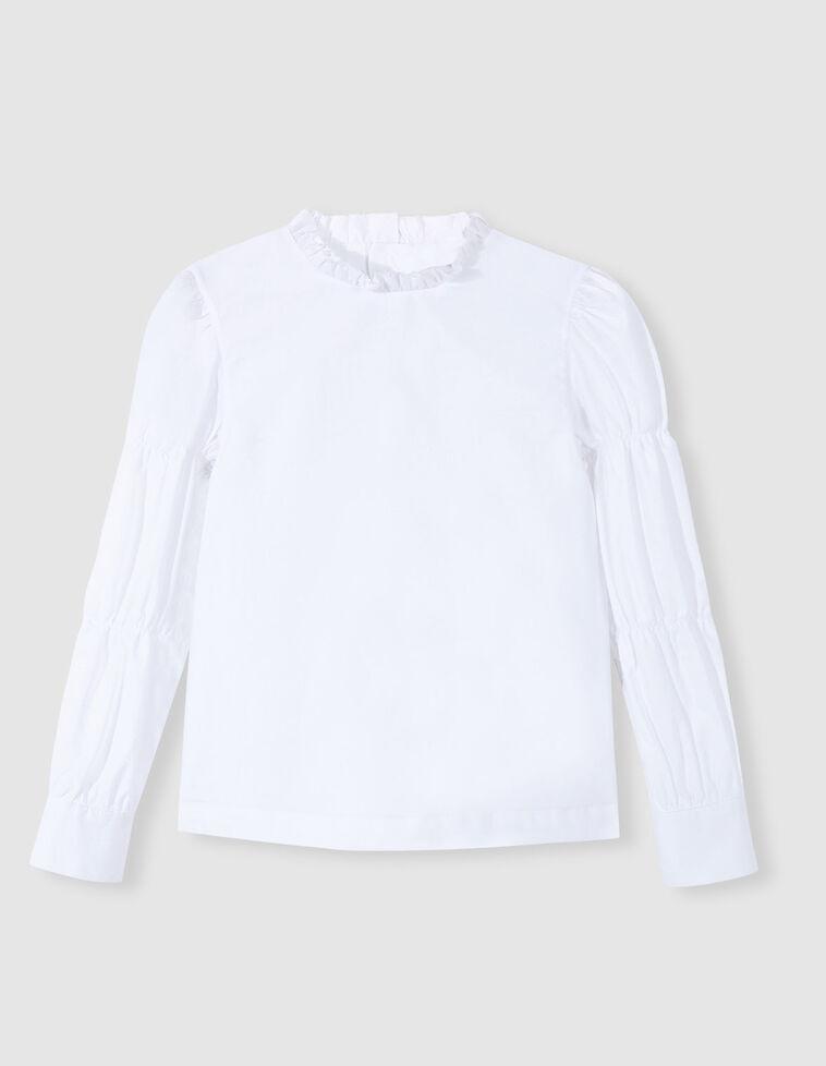 Camisa branca mangas bufantes