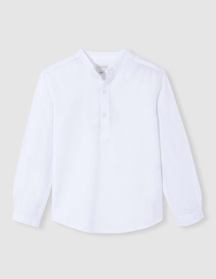 Camisa cuello mao oxford