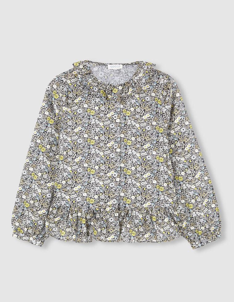 Camisa flores liberty con detalles lima.