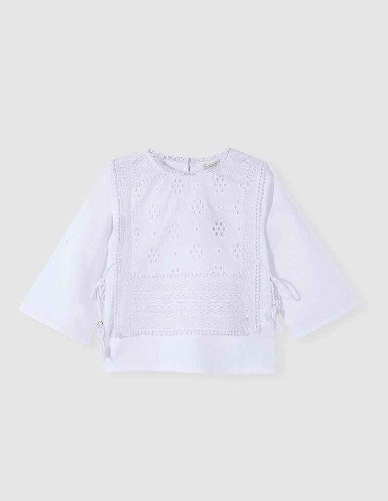 Camisa bordado inglês branca