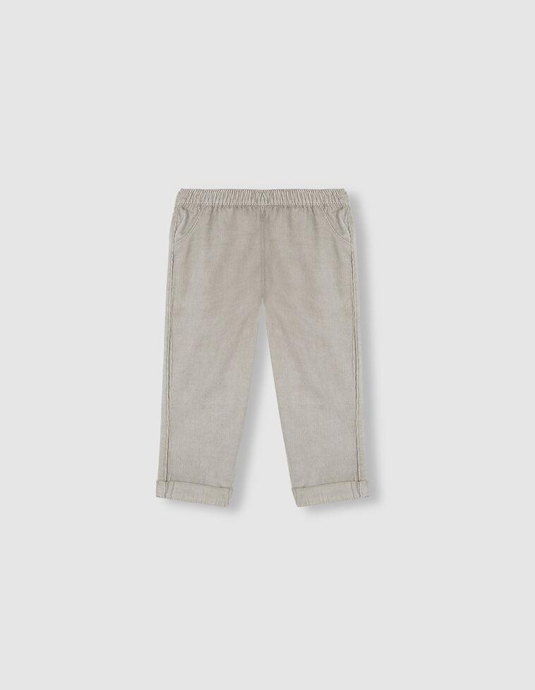 Calças elásticas cinzentas